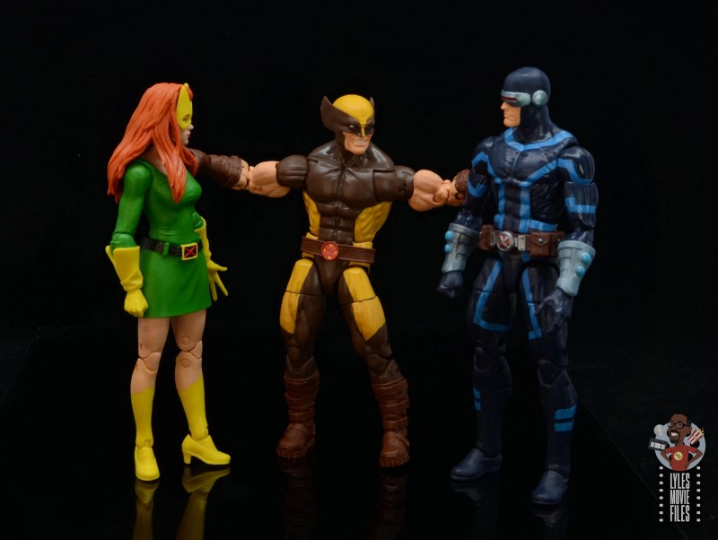 marvel legends house of x wolverine figure review -hanging with jean and scott