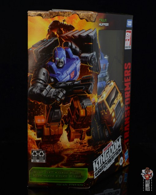 transformers kingdom war for cybertron huffer figure review - packaging side