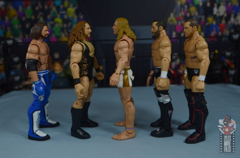 wwe elite 78 matt riddle figure review - facing aj styles, pete dunne, bobby fish and kyle o'reilly