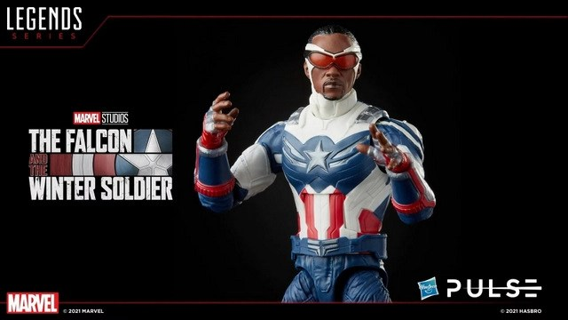 Hasbro Pulse Fan First Monday - sam wilson captain america close up