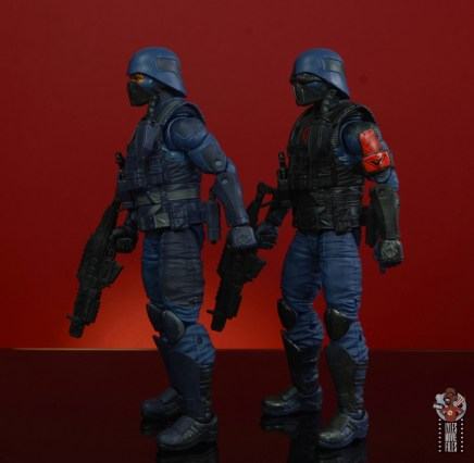 gi joe classified cobra infantry review - left side comparison