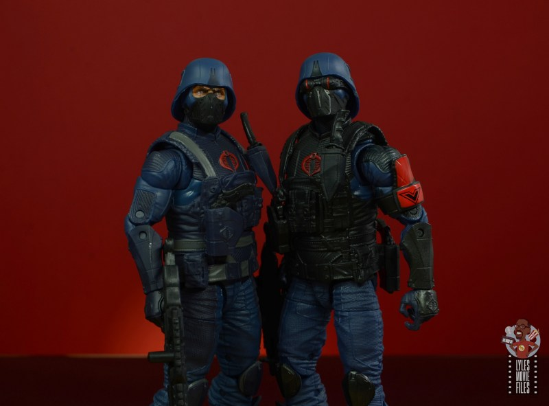 gi joe classified cobra infantry review - outfit difference closeup