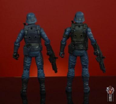 gi joe classified cobra infantry review - rear comparison