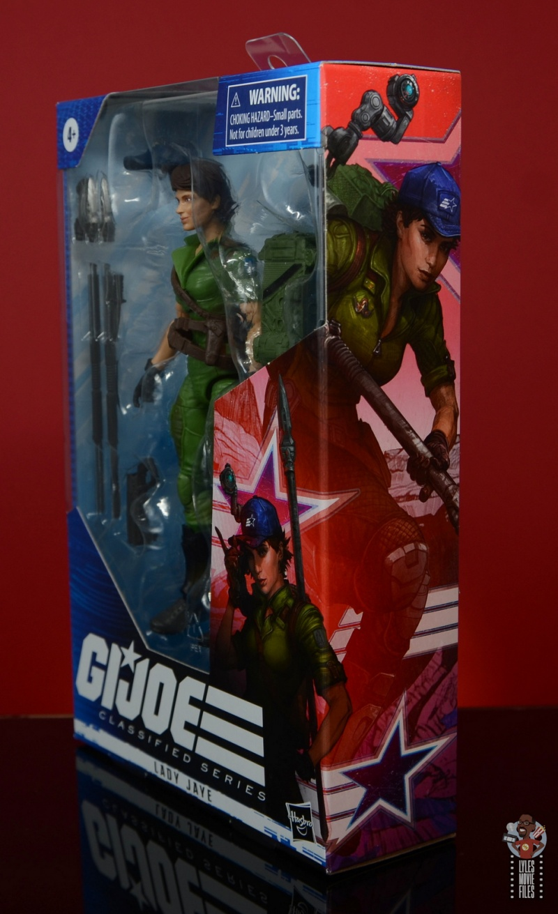 gi joe classified series lady jaye figure review - package slant side