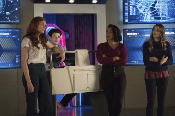 the flash - the one with the nineties review -nora, barry, iris and caitlin