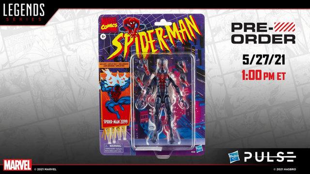 marvel legends spider-man 2099 - packaged pic