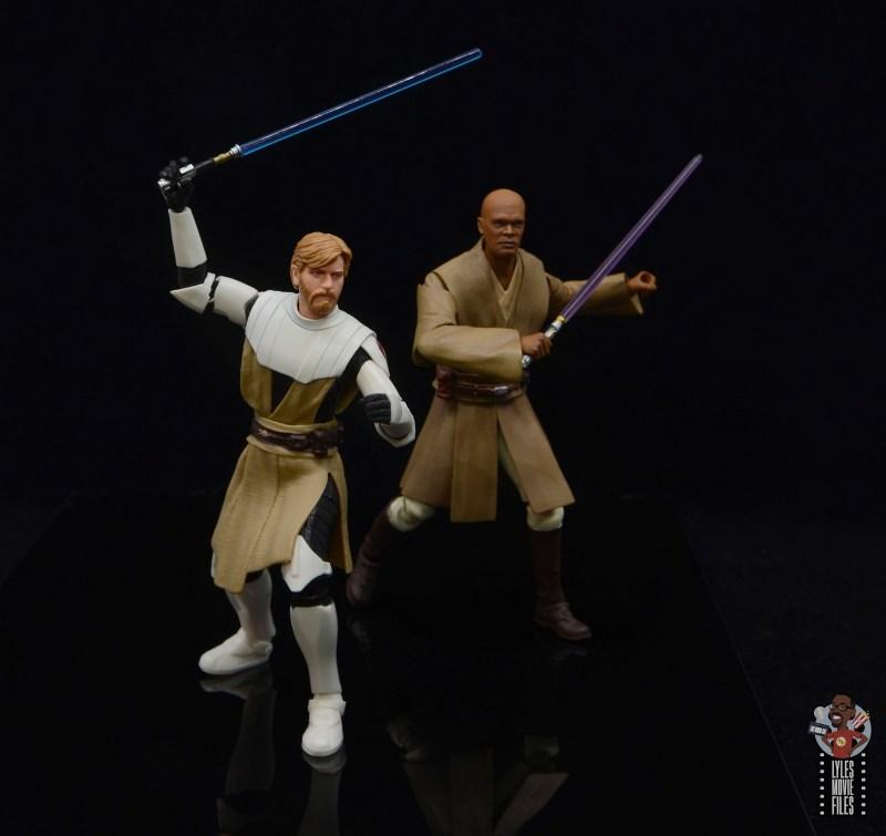 star wars the black series clone wars obi-wan kenobi review - battle ready with mace windu