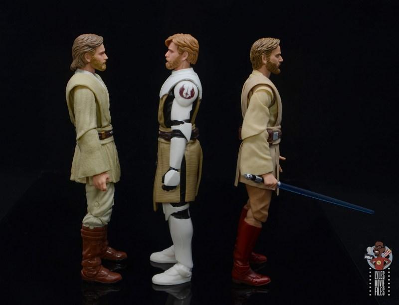 star wars the black series clone wars obi-wan kenobi review - facing aotc obi-wan and rots obi-wan