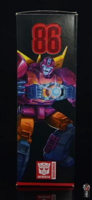 transformers studio series 86 hot rod review - package side