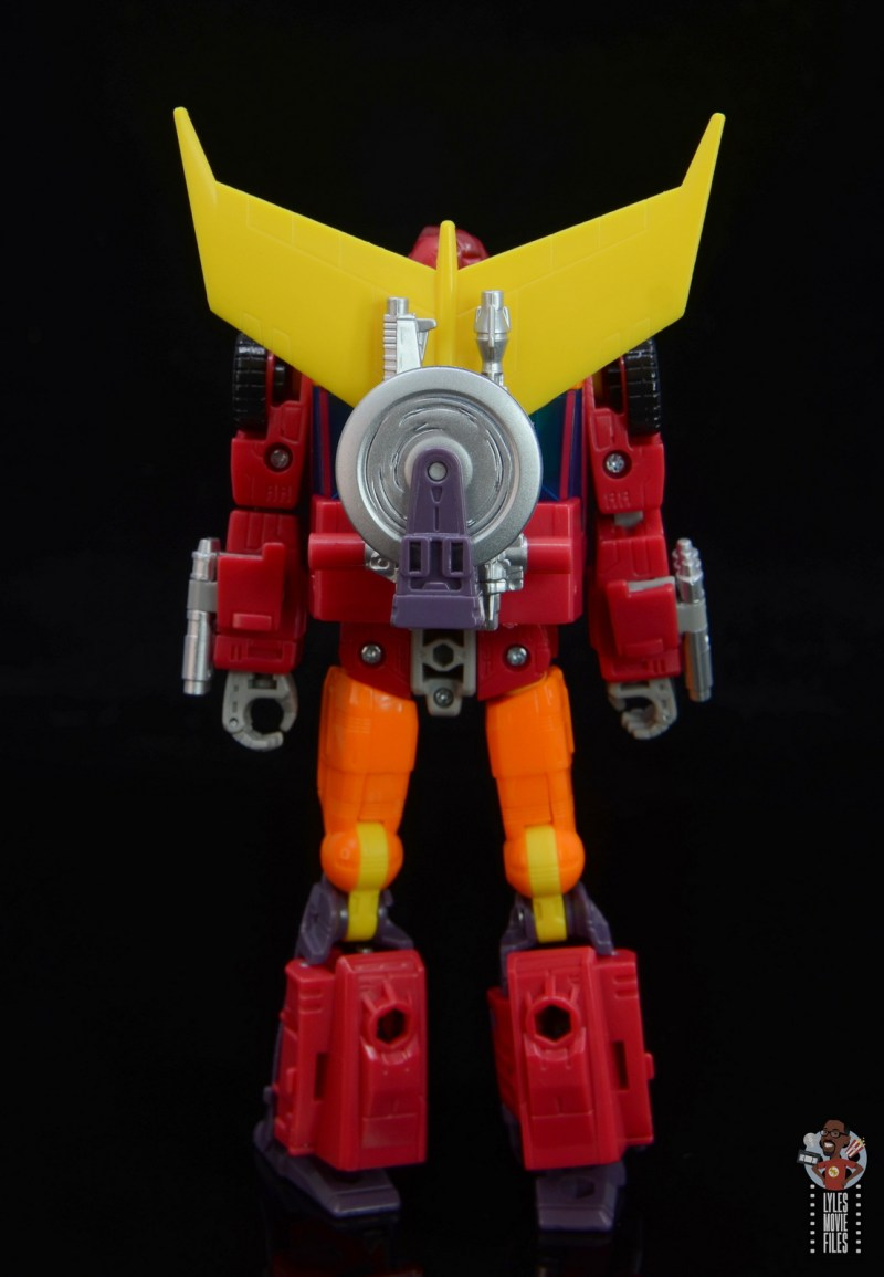 transformers studio series 86 hot rod review - rear with gear attached