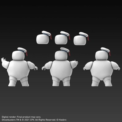 ghostbusters plasma series mini-puffs head options rear