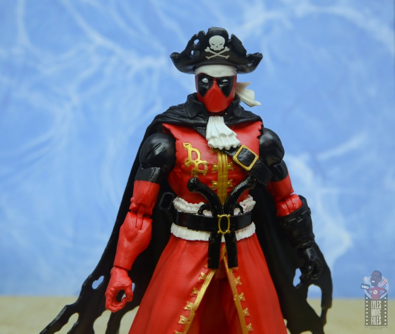 marvel legends pirate deadpool review -outfit details