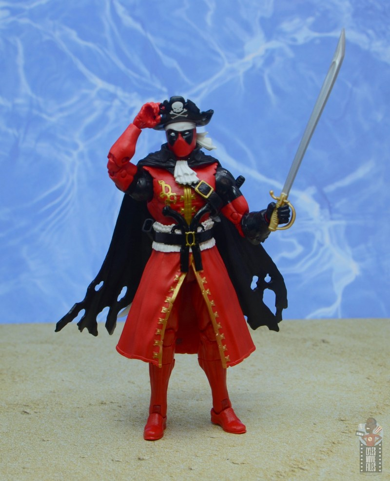 marvel legends pirate deadpool review - tipping hat