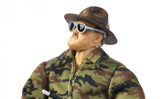 wwe ultimate edition sgt slaughter figure -looking up