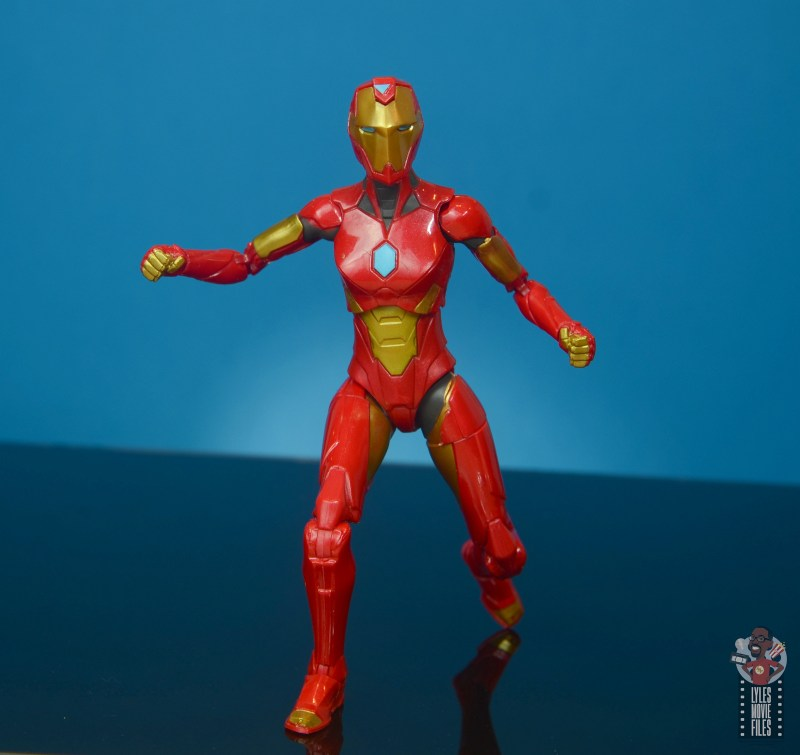 marvel legends ironheart review - on the move