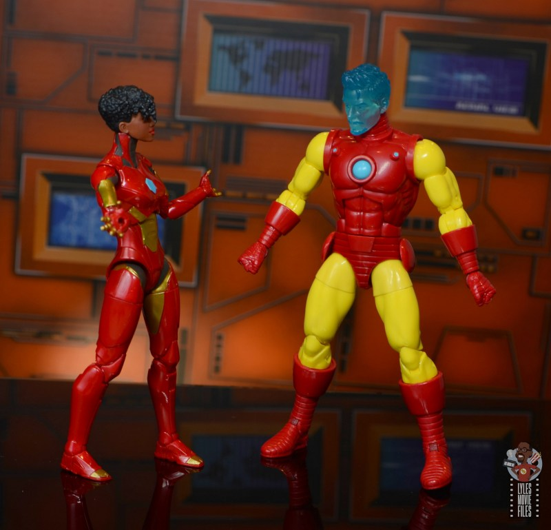 marvel legends ironheart review - with tony stark a.i.
