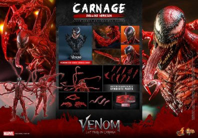hot toys venom let there be carnage figure - deluxe carnage collage