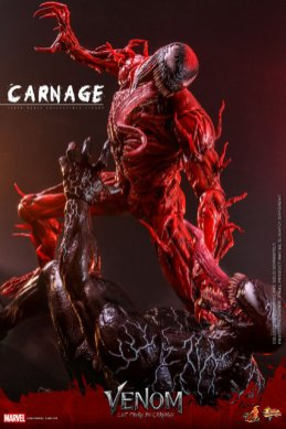 hot toys venom let there be carnage figure - towering over venom
