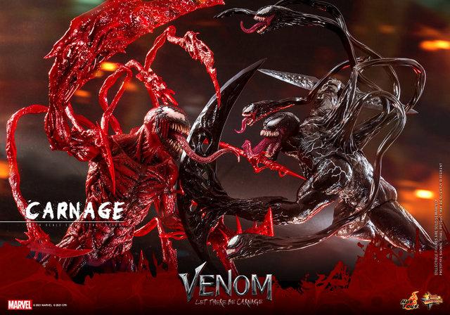 hot toys venom let there be carnage figure - vs venom