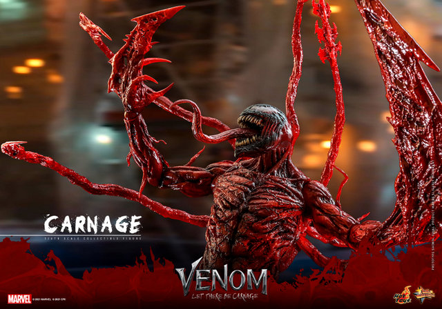 hot toys venom let there be carnage figure - wide shot