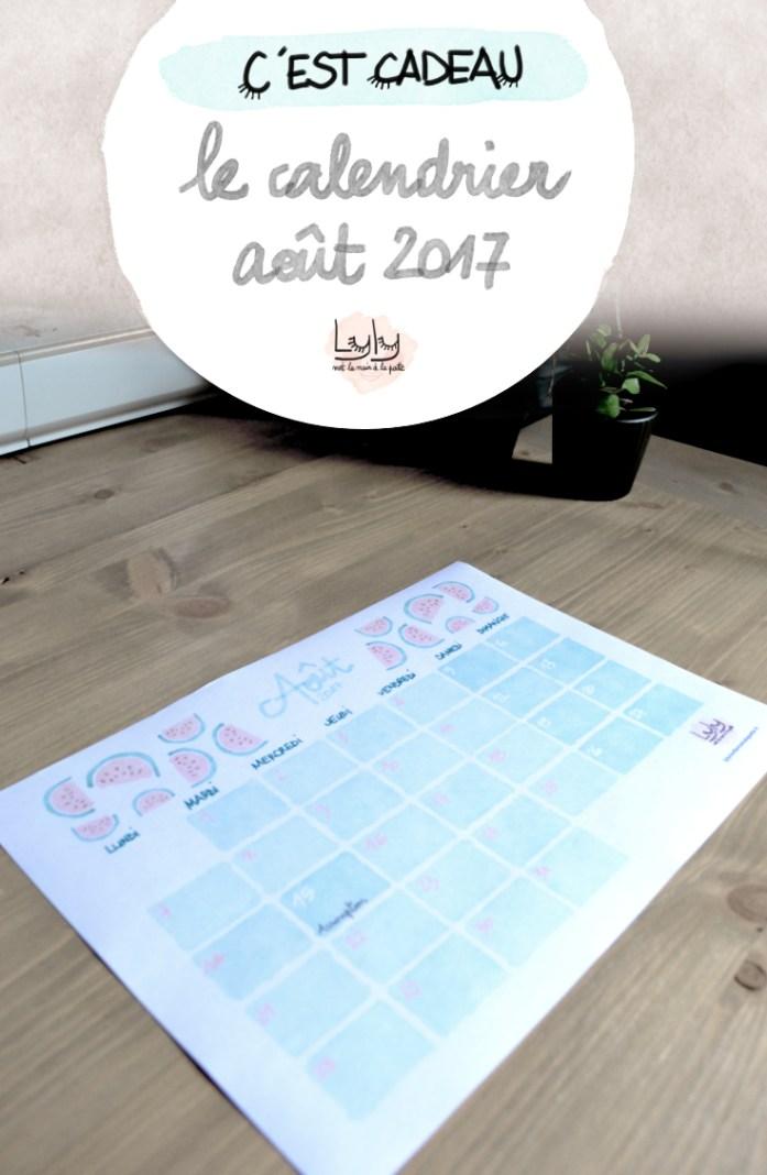 cadeau calendrier aout 2017