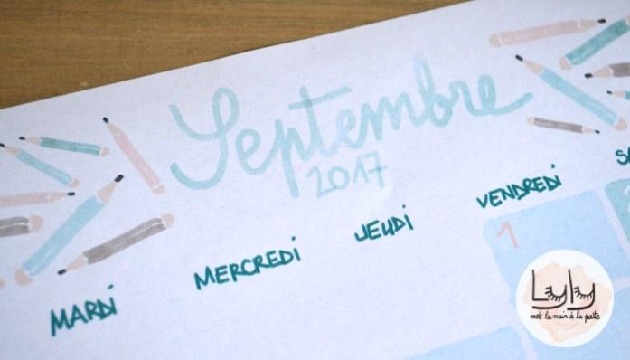 cadeau calendrier septembre 2017