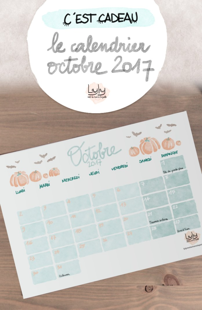 cadeau calendrier mensuel octobre 2017 a telecharger gratuitement