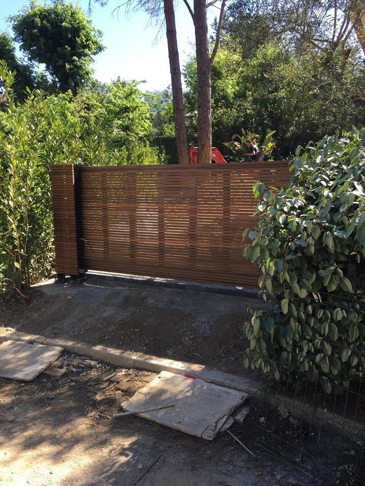 portail bois et acier