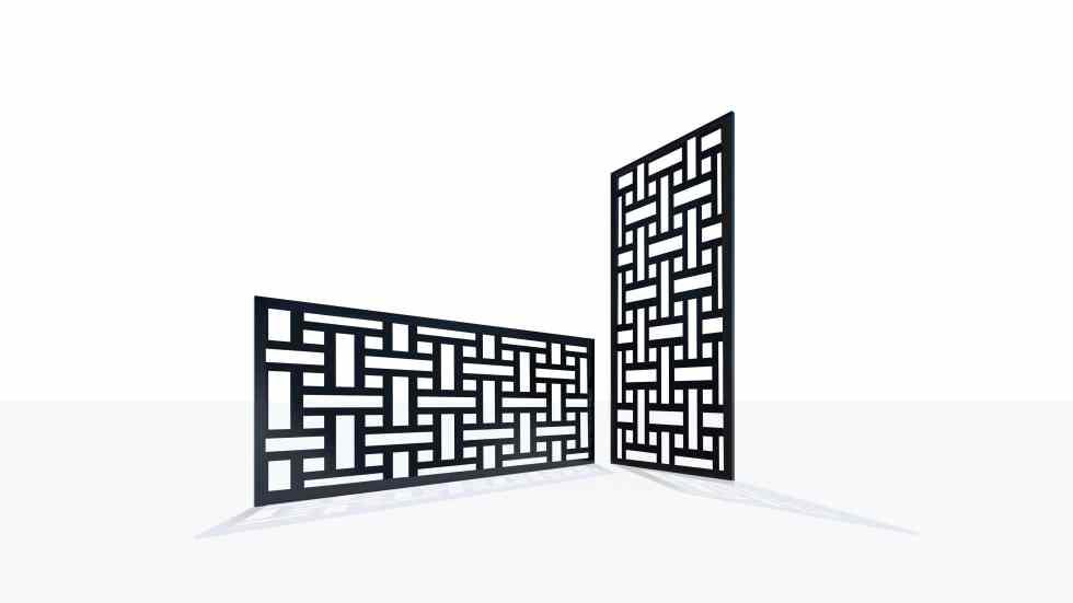 Claustra design motif 50 géométrique