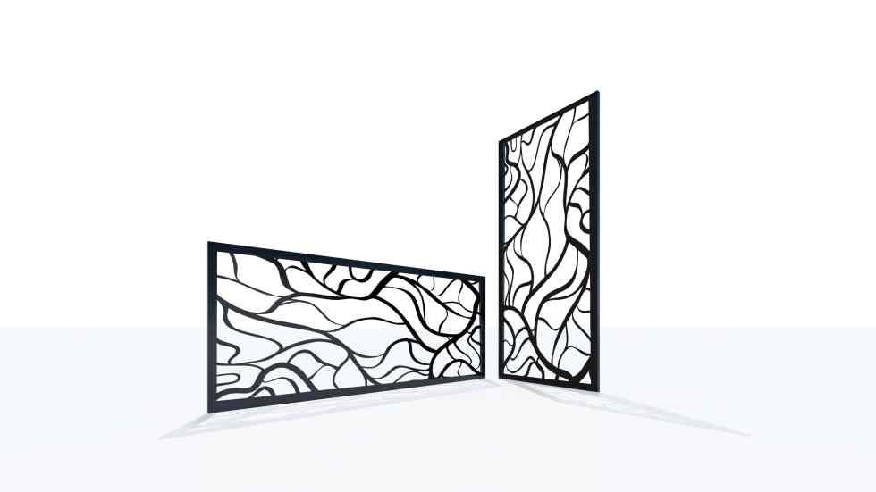 Claustra design motif vague nature