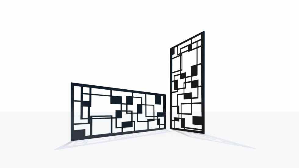 Claustra design motif géométrique années 70