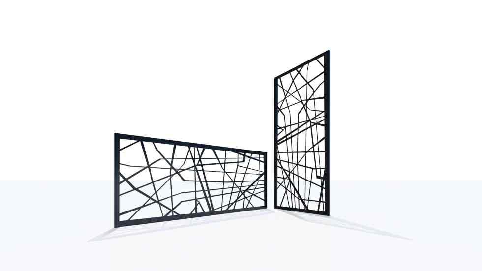 Claustra design motif géométrique