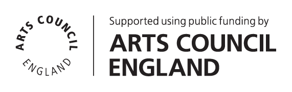 Supported using public funding from Arts Council England