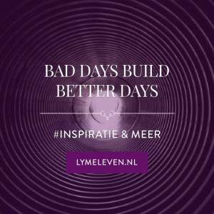 Quote: Bad days build better days