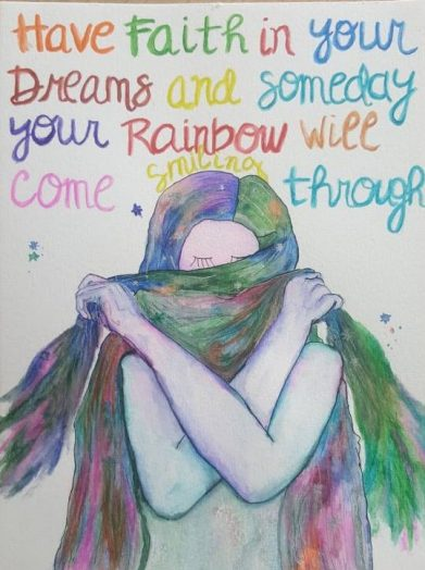 Have faith in your dreams - quote en tekening