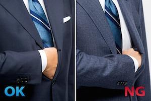 スーツの胴回りのサイズ