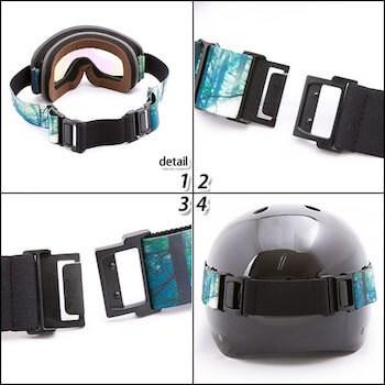 スノーボードのゴーグルの種類と選び方③:ヘルメット対応
