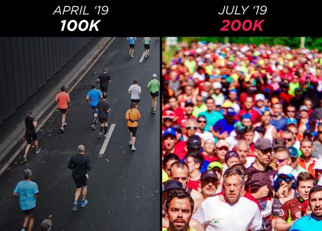 From 100k to 200k Lympo app users in 3 months