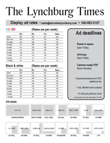 Advertise in The Lynchburg Times