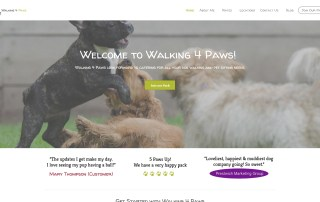 Walking4Paws.com Website Image