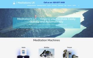 Meditations-uk.com Website Image