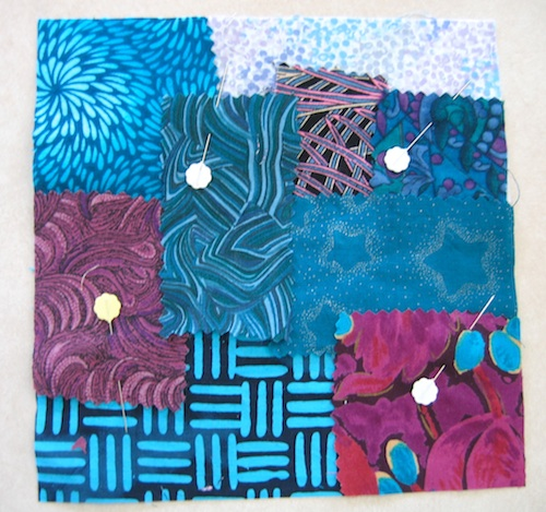 Fabric pieces together