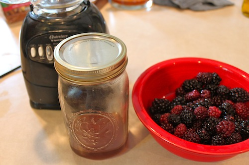 Blender, Honey and Blackberries