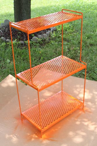 Orange shelving