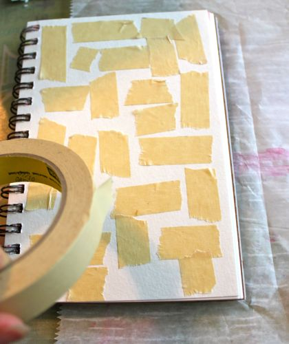 Adding tape to page