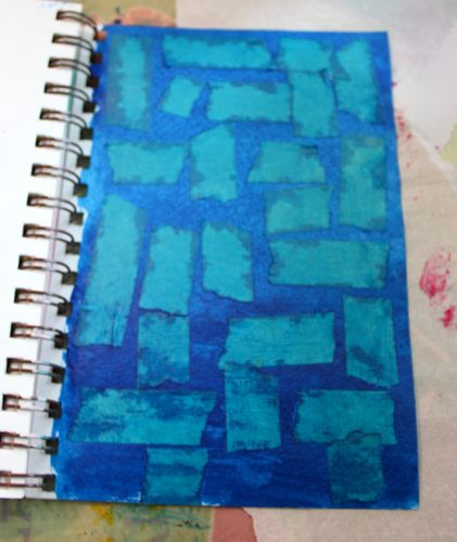 Finished taped background