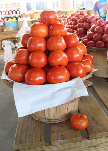 Neat tomato display