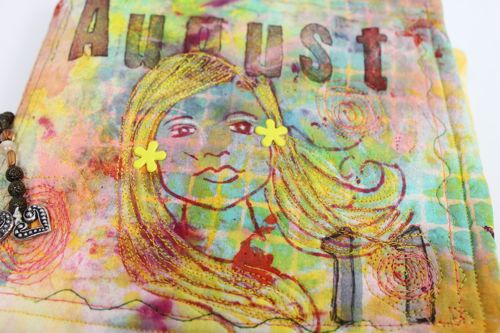 Closeup of art journal cover