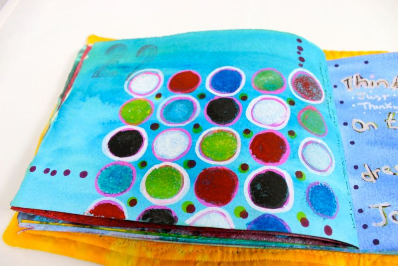 Journal page with wonky circle stencil