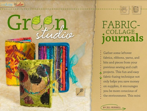 Fabric Collage Journal